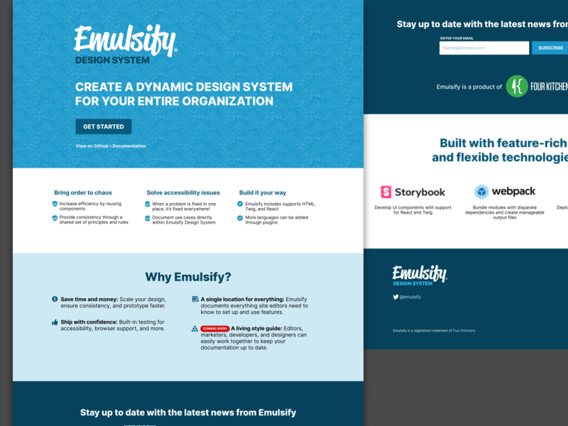 Emulsify Design System for use with Drupal, WordPress, and React react wordpress drupal