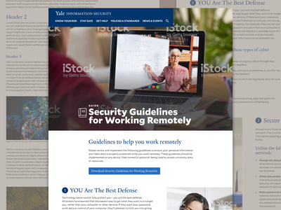 Yale Information Security