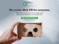 Web VR Landing Page WIP