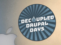 Decouple Drupal Days Sticker 3 — My favorite one