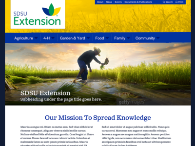 South Dakota State University Extension Website