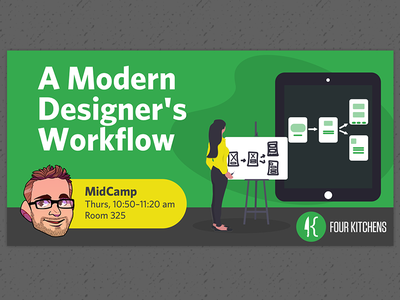 A Modern Designer's Workflow Talk Graphic