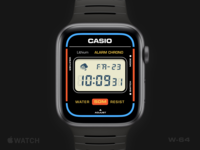 Apple Watch Casio W-64 vintage retro watchface casio apple watch