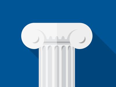 Column Flat Icon column flat icon