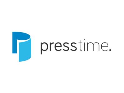 presstime Logo logo free mark typography brand freebie debut type download font branding