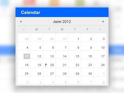 presstime calendar ui calendar interface flat minimal ux