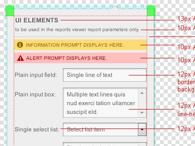 Parameter Popup ui developers specifications web web design ux dev specs design