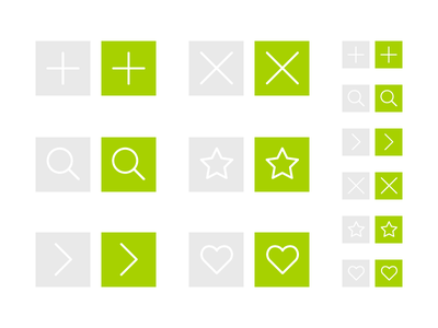 UI Buttons for website ui buttons icons plus search star back forward heart close cross freebie free resources ai free resources