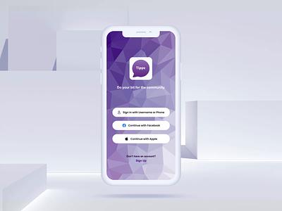 Tipps App UI Design | Appinventiv app design design mobile app ux ui