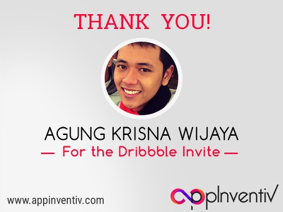 We Made It To Dribbble, Thanks Agung For The Invite! thankyou firstpost dribbble debut appdevelopment photoshop bestshot
