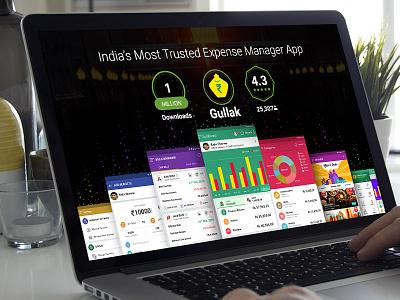 UI/X of a money saving App logo icons pi-chart screens ux ui money saving app mobile app