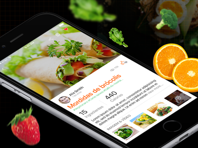UX/UI of A Healthy Meal Planning Mobile App food app health app ux ui mobile app icons screen