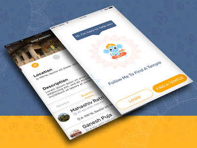 UX/UI screens of our upcoming mobile application project