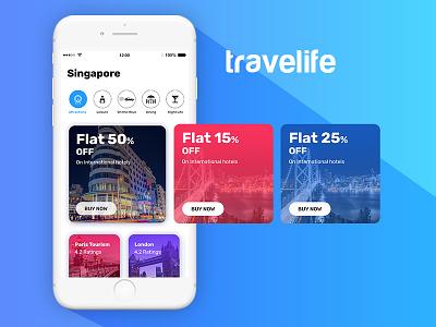 Travelife travel app design ux ui app design mobile app design travel app