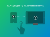 Tap screen to pair your frame