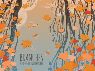 Branches water leaves autumn album art album cover music design drawing illustration photoshop