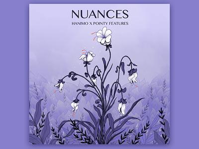 Nuances plants flower music album cover album art design branding photoshop drawing illustration