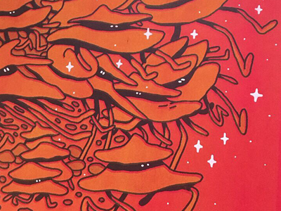 Risograph Test red posca print risograph riso design illustration drawing character photoshop