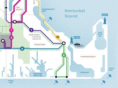Martha's Vineyard Bus Map by shane keaney on Dribbble on
