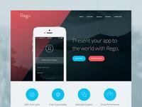 Rego App Landing Page