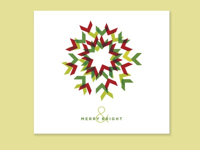 Merry and Bright Corporate Holiday Card