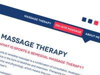 Massage therapist site