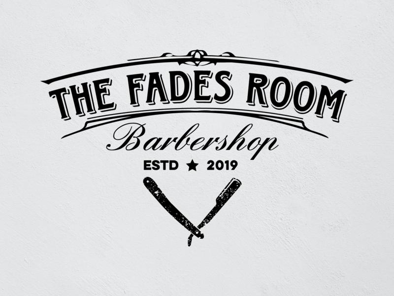 The Fades Room Barbershop - Logo Design brand identity vector symbol minimal mark logotype logo mark logo design logodesign logo illustrator knife illustration design branding design creative branding barbershop barber