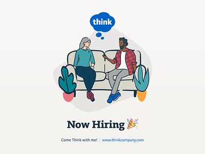 We're Hiring at Think Company hiring now hiring new job job listing job board jobseeker jobs
