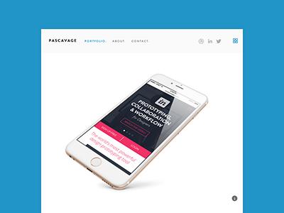 New Portfolio - www.pascavage.com ui ux design web websites mobile apps brand designer portfolio creative director