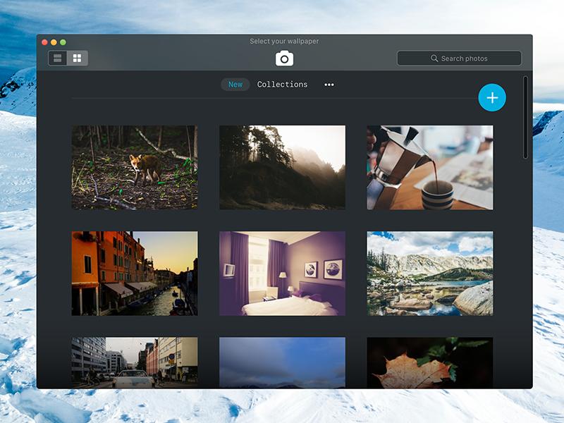 Unsplash Inspired Desktop App sketch dark app unsplash macos wallpaper
