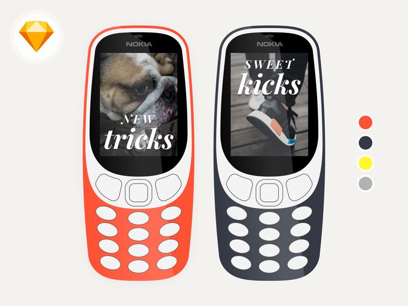 Nokia 3310 – Sketch Freebie template mobile phone cell freebie download sketch 3310 nokia