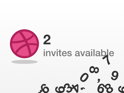 Dribbble x2 invites dribbble