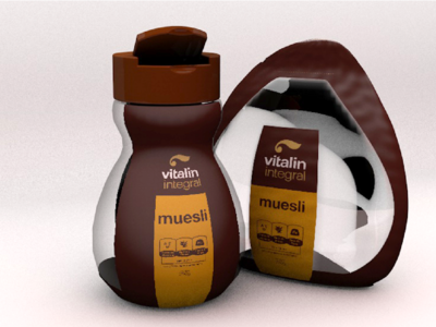 Embalagens Vitalin 3d graphic  design package product design