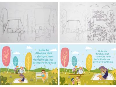 Desenvolvimento - Guia de Direitos graphic  design ilustration