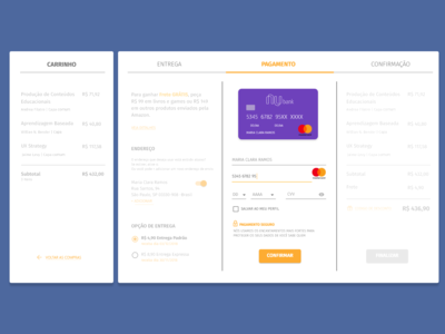 Daily UI #002 - Credit Card Checkout adobexd daily 100 daily ui 002 ui
