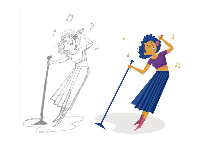 Ilustração - music player adobe illustrator cc vector illustration