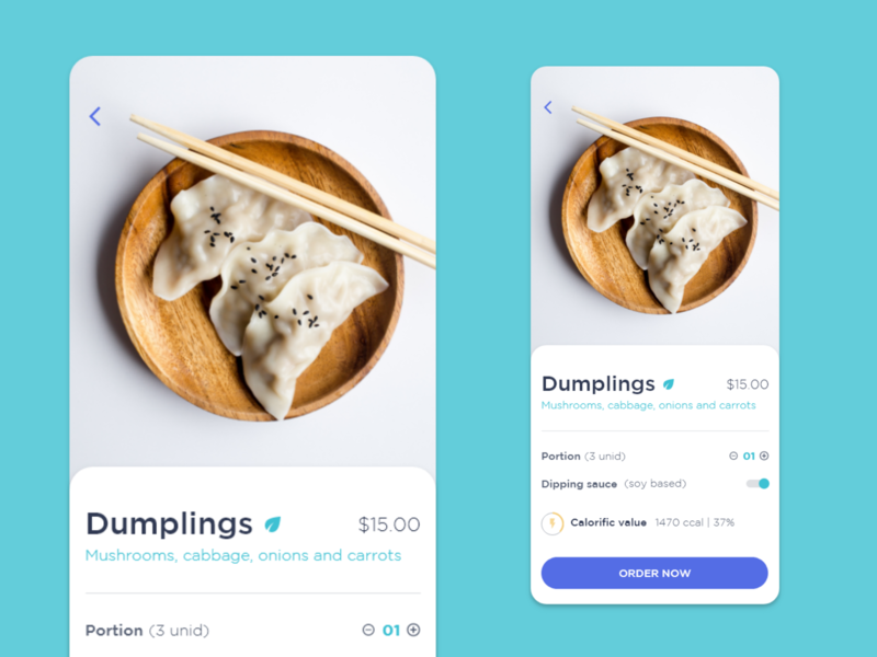 Study of Colors and Styles adobexd ios app ui design food study ui