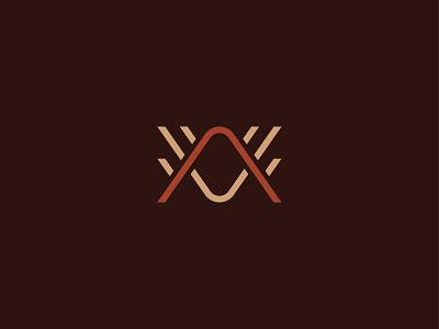 AV Monogram photo photography red beige burgundy stripes line minimalistic identity logo monogram wings