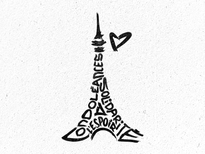 pray for paris by vova dribbble