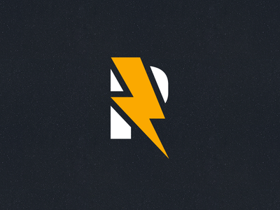 R yellow logo thunder recharge charge battery p r lightning
