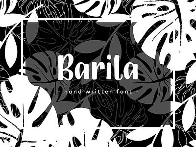 Barila Font baby infant card jungle leaf children poster cover book handwritten lettering font