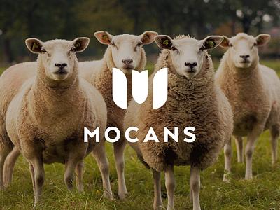 Mocans mocans flower minimalistic natural leather carpet shoes fur wool sheep m brand logo letterform monogram