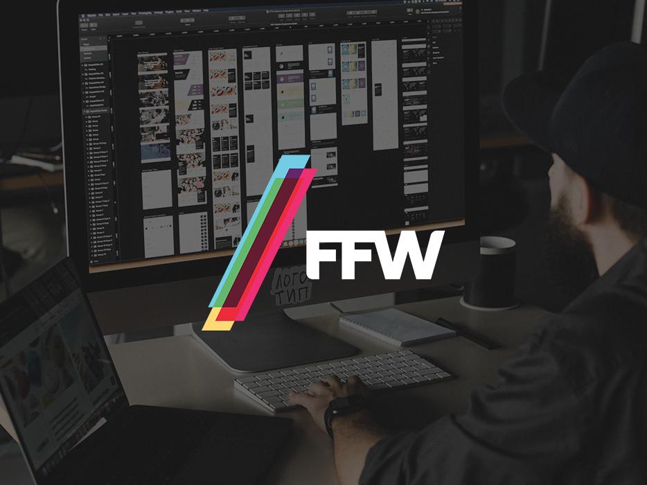 FFW Logo components atomic design agency branding illustrations digital drupal color website ffw logo slash agency