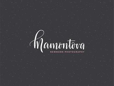 Newborn Photography Logo monogram mamontova brand circle stamp photo love pattern texture kids children typography lettering callighraphy branding infant photography m logo newborn