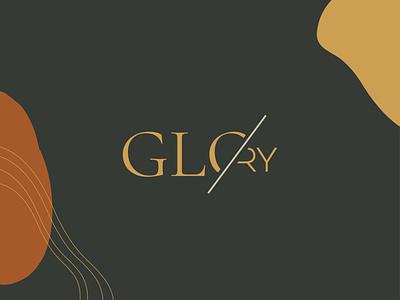 GLORY Fashion Logo single line mood dark glo logo bird feather slash autumn line art line phoenix glory branding fashion