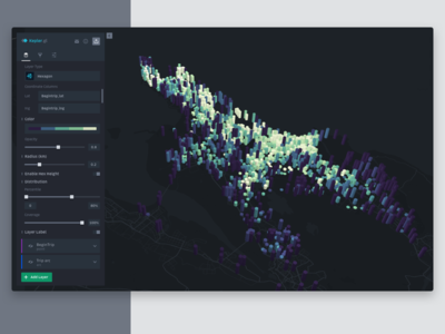 Kepler.gl - A Geospatial Analysis Tool uber design design webgl 3d visualization app product design dataviz data visualization complex data big data
