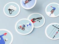 Uber Bike Stickers