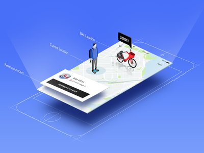 Bike Search Experience uber design uber framework map uber bike jump reservation bike