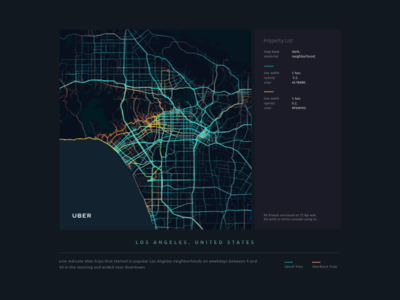 UBER Map Visualization uber design uber minimal map dataviz data visualization data complex clean big data