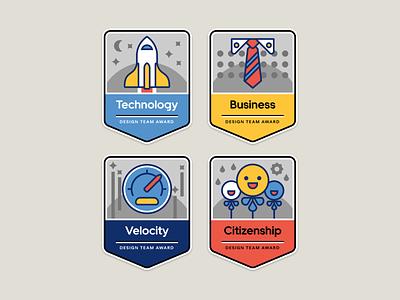 Team Award Badges uber design uber badges awards team illustration